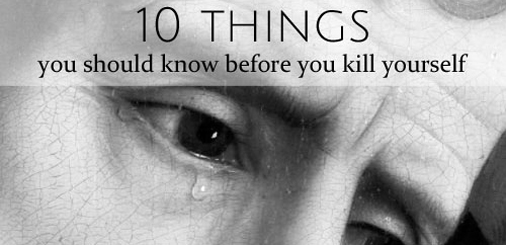 10 things you should know before you kill yourself twitter