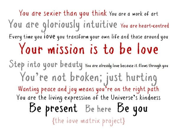 love matrix project manifesto