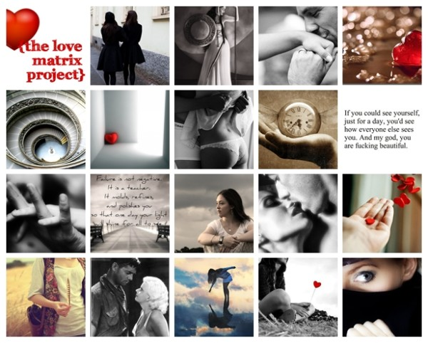 love matrix collage