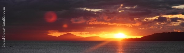 sunset taupo