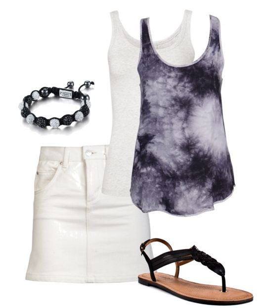 tie dye and skirt