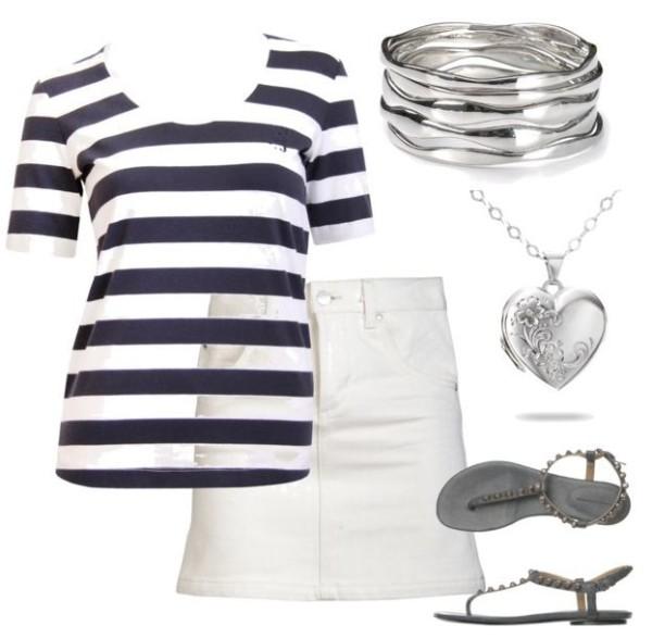 stripes and skirt
