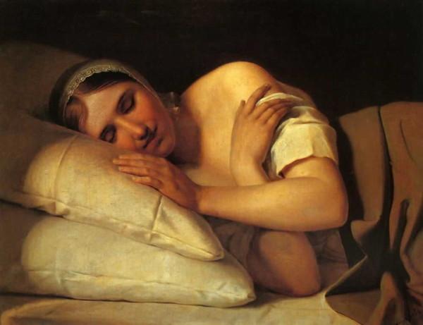 Sleeping_girl_by_Venetsianov