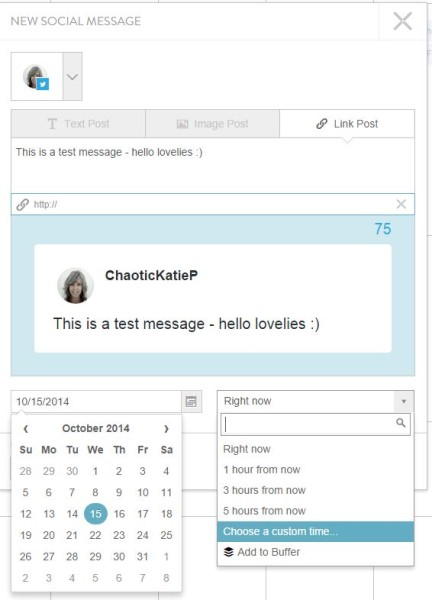 coschedule message window