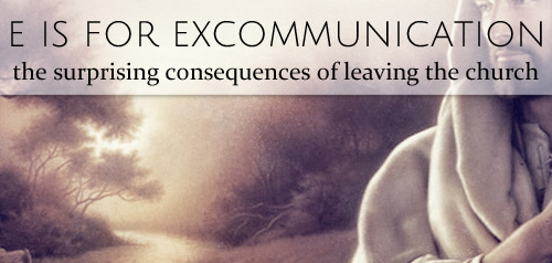 e is for excommunication twitter