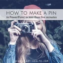 how to make a pin in powerpoint template