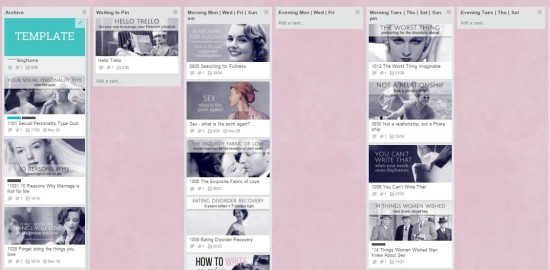 trello board pinning